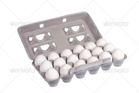 Carton of eggs - Stock Photo - Images