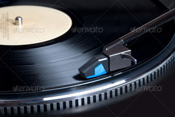 Record turntble - Stock Photo - Images