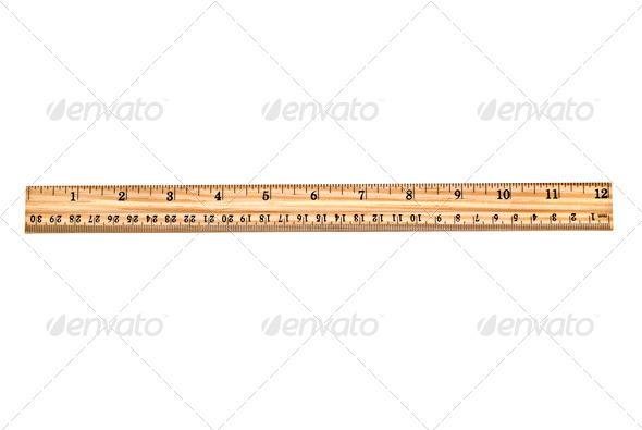 New wooden ruler - Stock Photo - Images