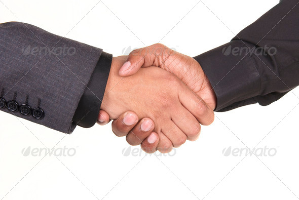 African American Businessmen Shaking Hands - Stock Photo - Images