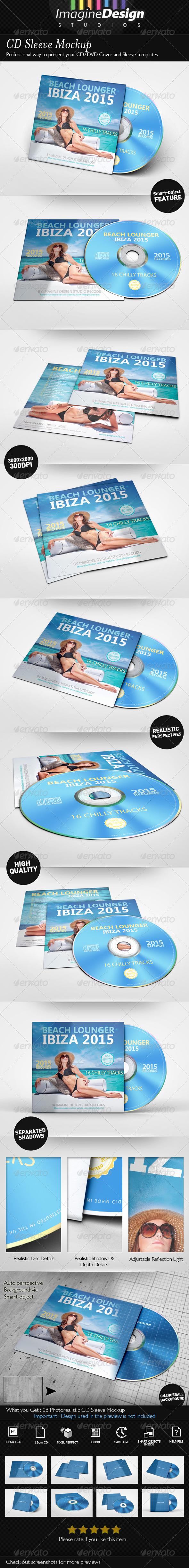 CD Sleeve Mockup - Discs Packaging