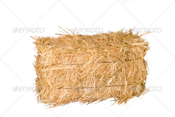 Bale of hay - Stock Photo - Images