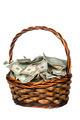 Basket full of cash
