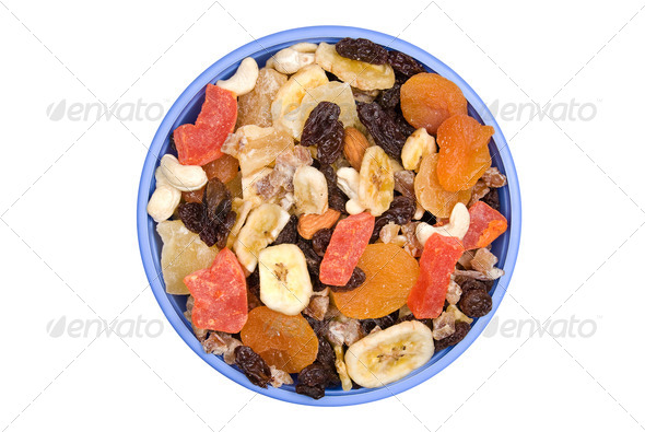 Bowl of trail mix - Stock Photo - Images