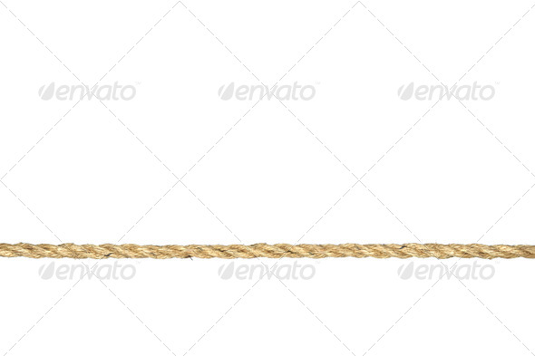 Twisted manila rope isolated on white - Stock Photo - Images
