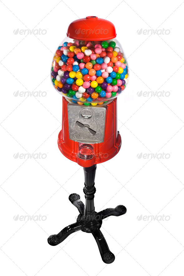 Gumball Vending Machine - Stock Photo - Images