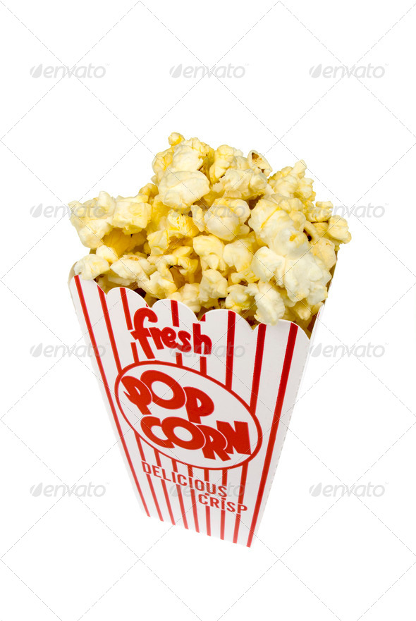 Container of Popcorn - Stock Photo - Images