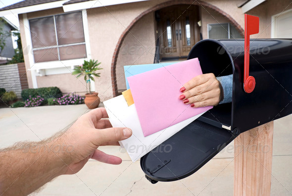 Delivering mail - Stock Photo - Images