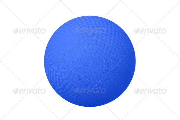 Blue Dodge ball - Stock Photo - Images
