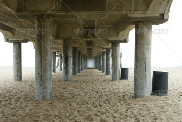 Pier pilings - Stock Photo - Images