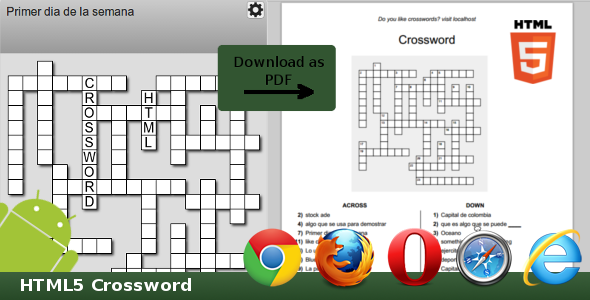 HTML5 Crossword - CodeCanyon Item for Sale