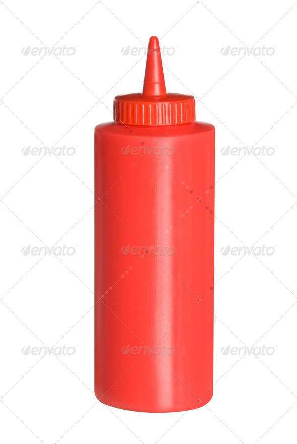 Isolated bottle of ketchup - Stock Photo - Images