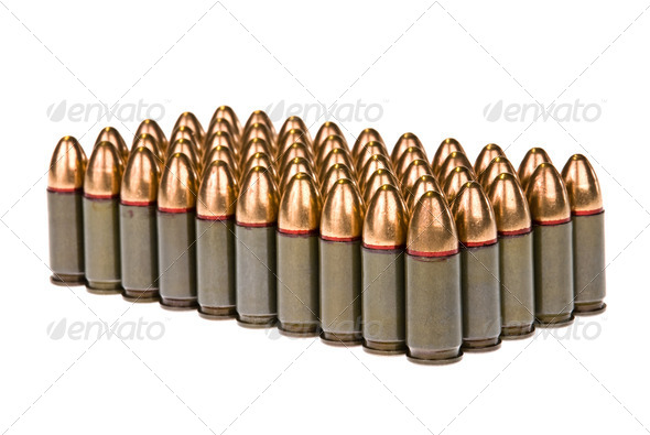 Rows of bullets - Stock Photo - Images