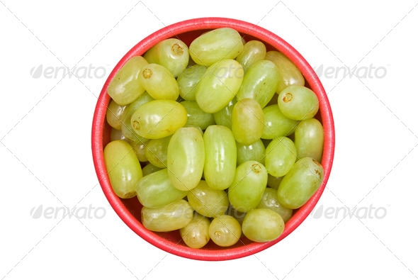 Bowl of grapes - Stock Photo - Images