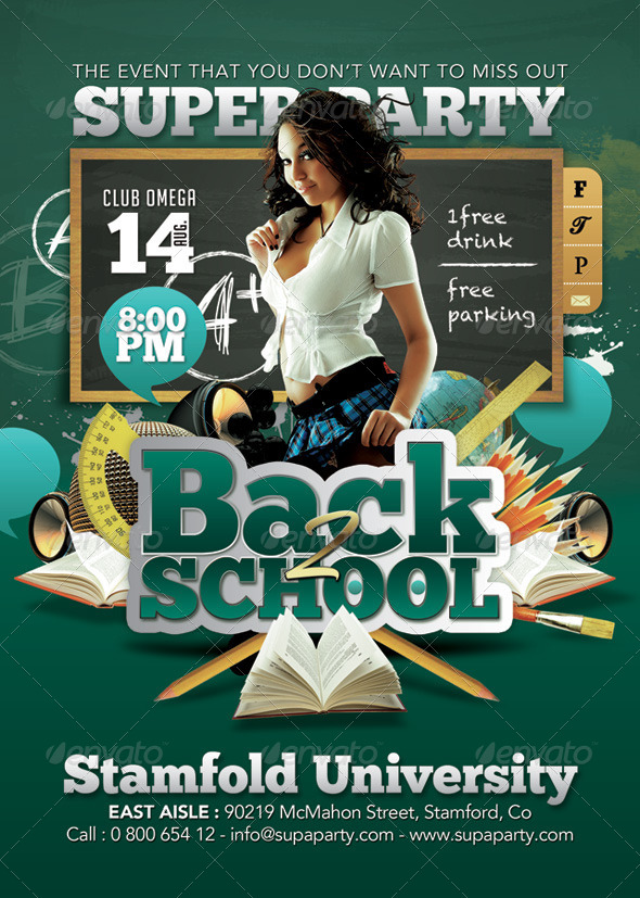 back to school super university party by n2n44 graphicriver