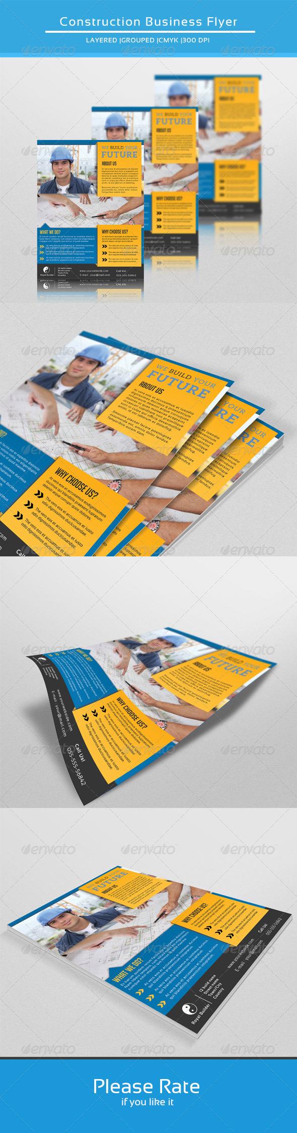 construction company flyer v104 corporate flyers