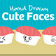 101 Hand Drawn Cute Faces - GraphicRiver Item for Sale