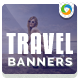 Travel & Vacation Marketing Banners - GraphicRiver Item for Sale