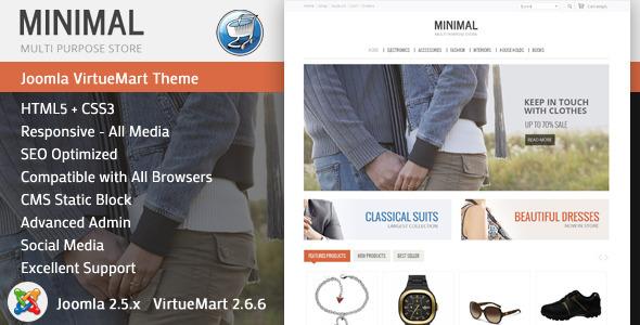 Minimal - Responsive VirtueMart Theme - VirtueMart Joomla