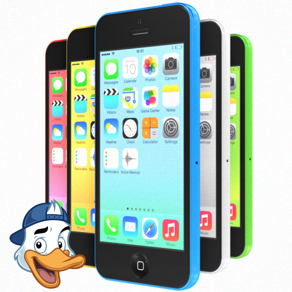 Apple iPhone 5C for Element 3D - 3DOcean Item for Sale