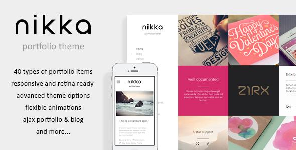 Nikka – AJAX Portfolio HTML Template