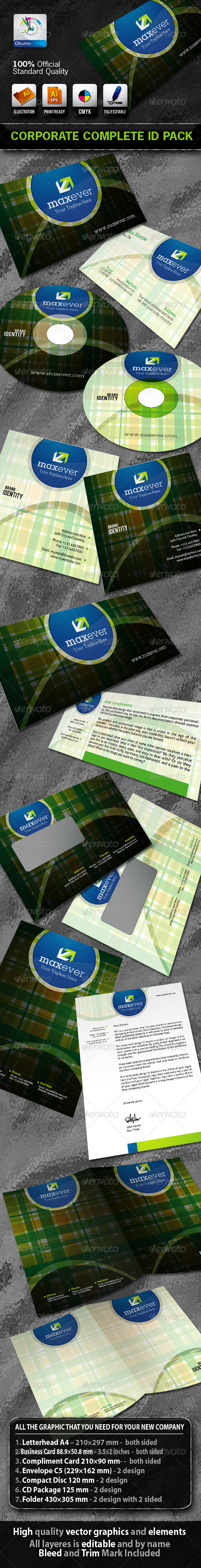 MaxEver Business Corporate ID Pack With Logo - Stationery Print Templates