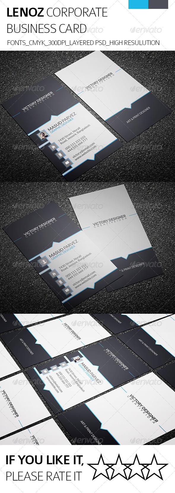 Lenoz & Corporate Business Card - Corporate Business Cards