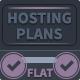 Modern Flat Hosting Plans - GraphicRiver Item for Sale