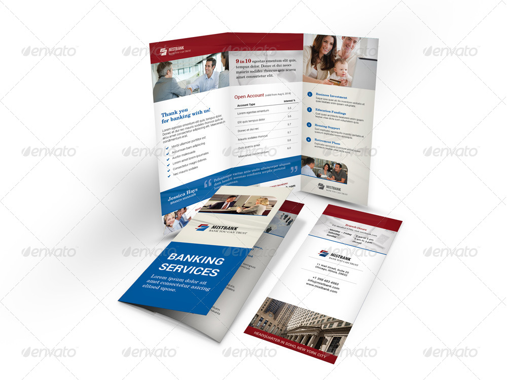bank trifold brochure by mike pantone