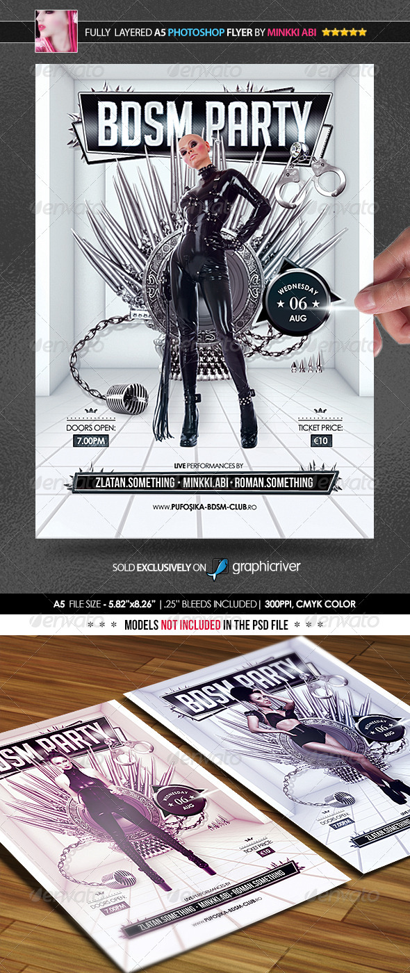 BDSM Party Poster/Flyer - Events Flyers