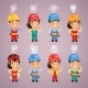 Builders with Icons Set - GraphicRiver Item for Sale
