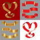 Vector Set of the Shiny Gold and Red Ribbons - GraphicRiver Item for Sale