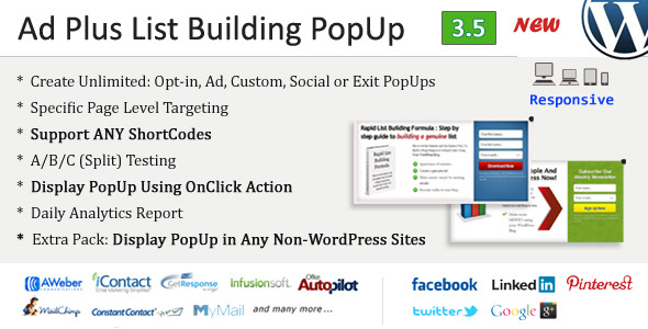 Ad Plus List Building Popup - CodeCanyon Item for Sale