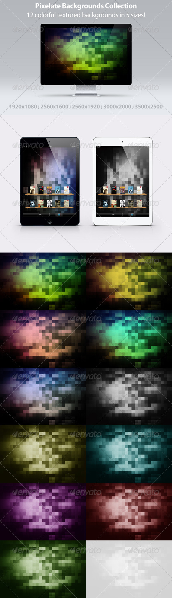 Bright Pixels Web Backgrounds Collection - Abstract Backgrounds