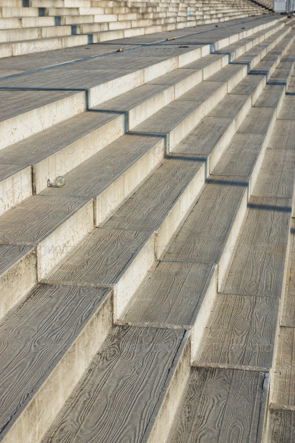 Concrete stairs - Stock Photo - Images