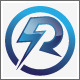 R Electric Flash Power Energy Logo - GraphicRiver Item for Sale