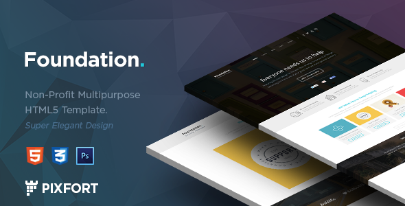 Foundation – Nonprofit Multipurpose HTML5 Template