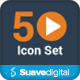 50 Multimedia Icon Set - GraphicRiver Item for Sale