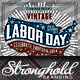 Download Vintage Labor Day Woodcut Flyer Template from GraphicRiver