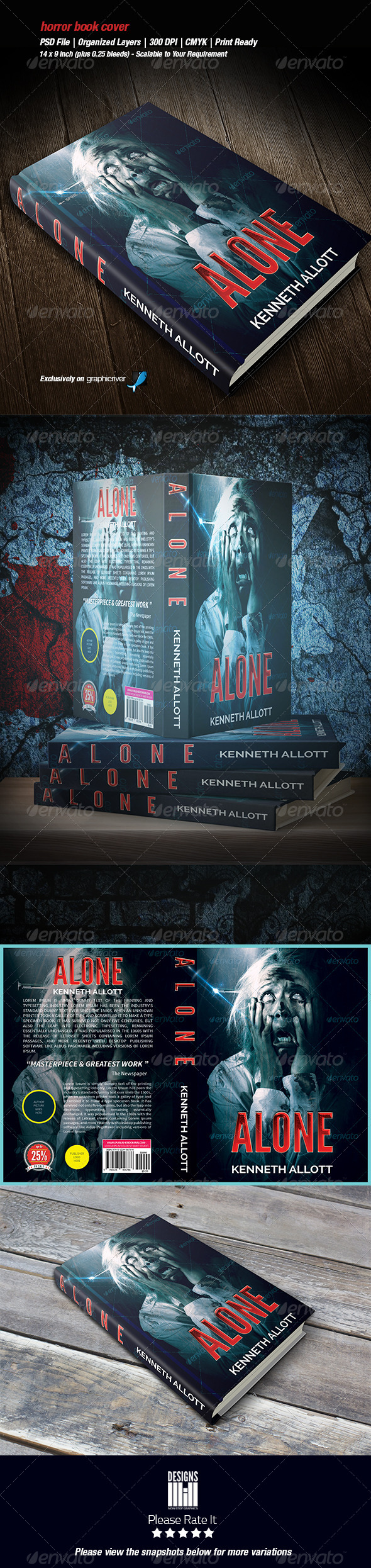 Horror Book Cover 02 - Miscellaneous Print Templates