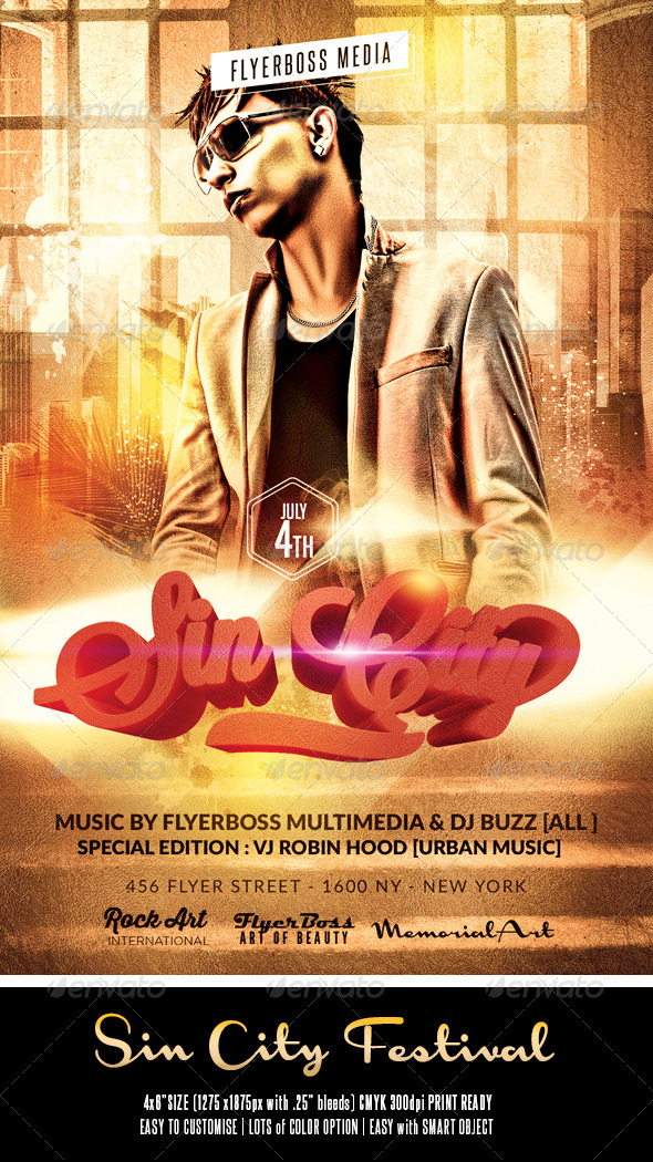 Sin City Flyer - Events Flyers