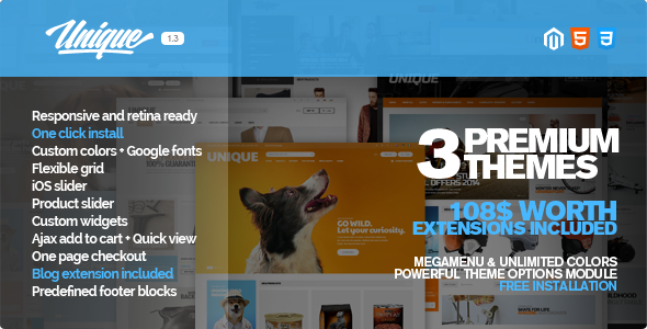 Unique – Responsive Magento Theme