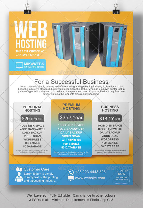 Web Hosting Flyer Template By Blogankids  Graphicriver