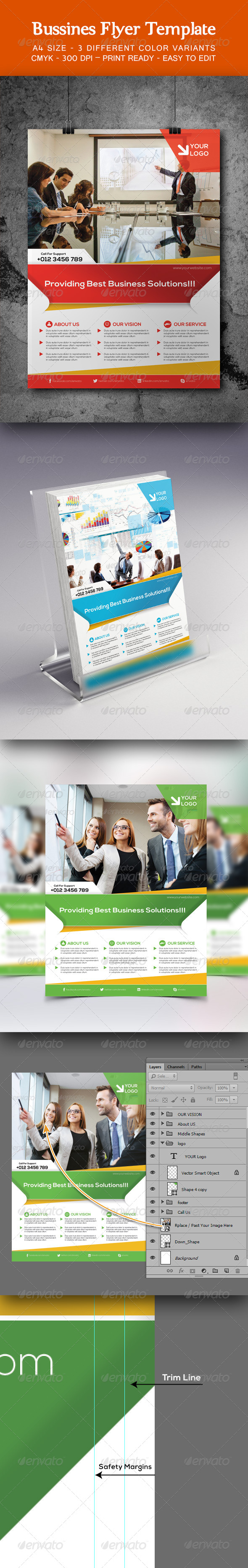 Bussines Flyer Template  - Corporate Flyers
