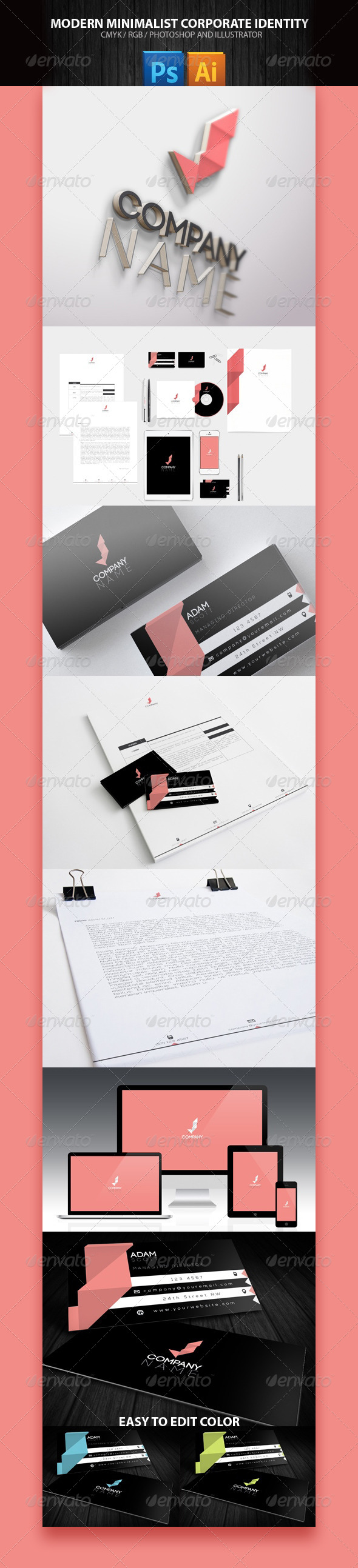 Business Corporate Pack Minimal - Stationery Print Templates