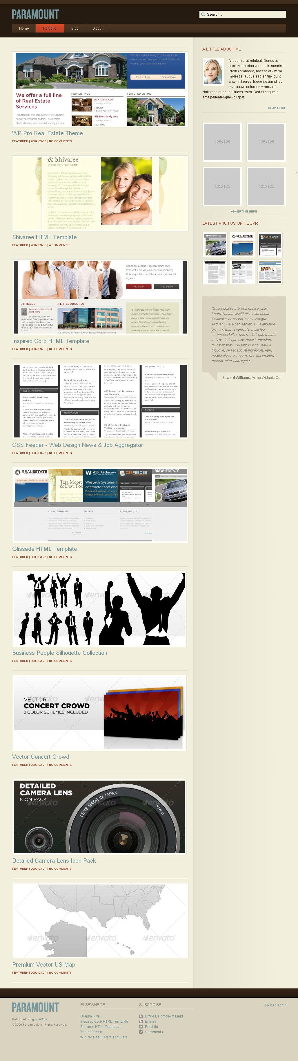 WP Paramount - Portfolio WordPress Theme