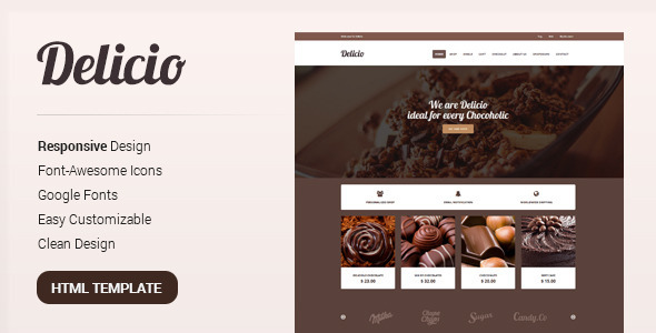 Delicio - Bakery & Food eCommerce HTML Template
