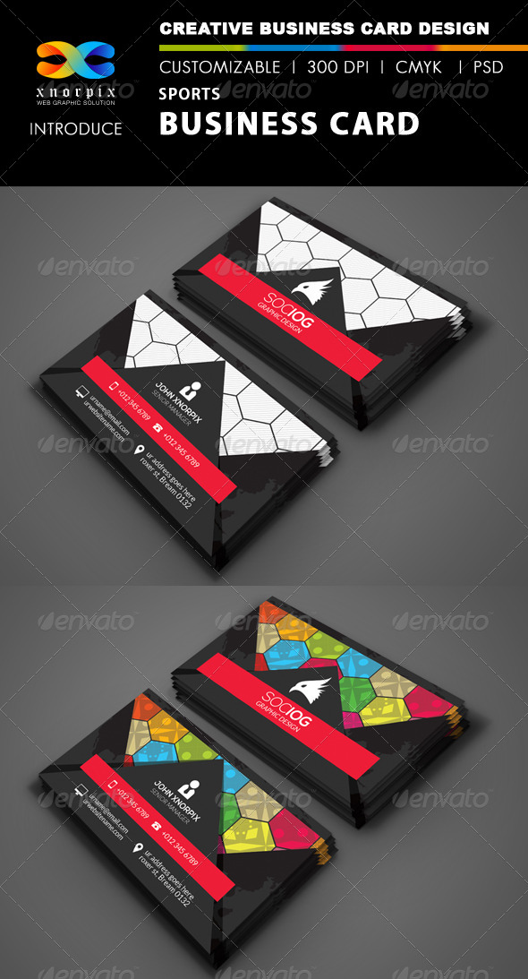 Sports business card by axnorpix graphicriver sports business card corporate business cards colourmoves Image collections