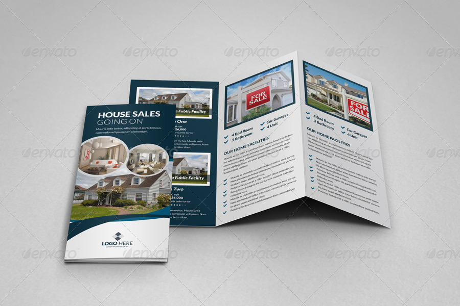 Property Sale Trifold Brochure Template By Janysultana  Graphicriver