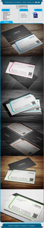 Corporate Business Card Template SN-38 - Corporate Business Cards